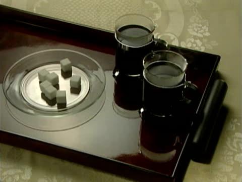 coffee server - einige gegenstände mittelgroße ansammlung stock-videos und b-roll-filmmaterial