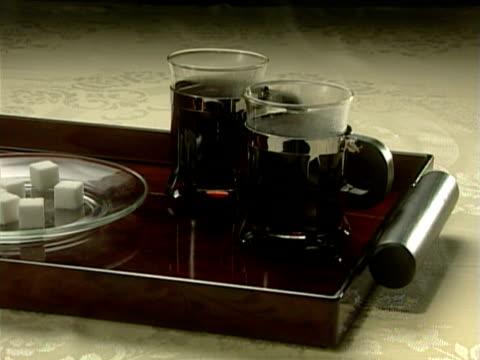 vídeos y material grabado en eventos de stock de coffee server - grupo mediano de objetos