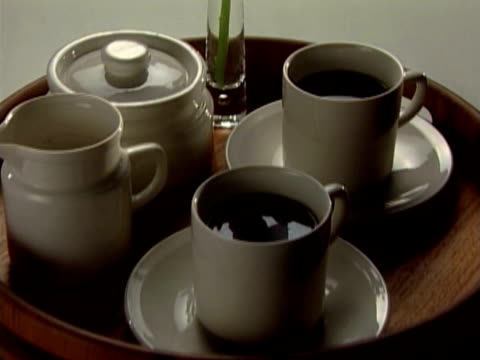 coffee server - medium group of objects stock videos & royalty-free footage