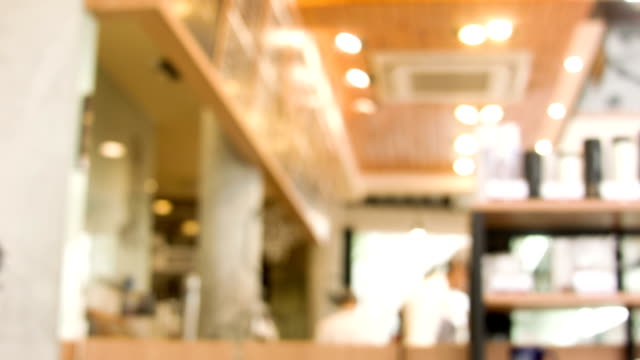 vídeos de stock, filmes e b-roll de coffee shop o desfoque de fundo. - molécula de cafeína