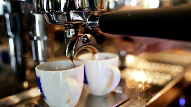 coffee shop - espresso maker stock videos and b-roll footage