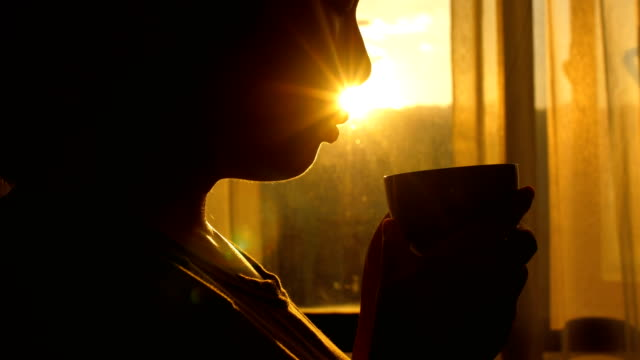 coffee time - beautiful woman stock videos & royalty-free footage
