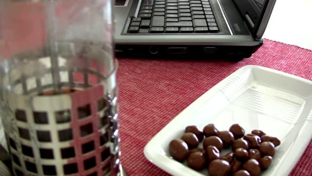 tempo di caffè - pranzare video stock e b–roll