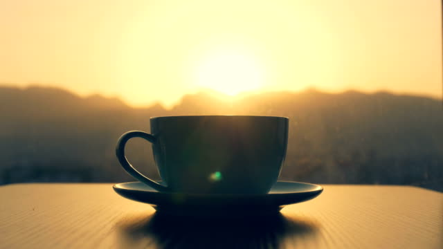 coffee time,coffee cup on table - coffee cup stock videos & royalty-free footage