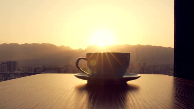 coffee time,coffee cup on table - breakfast stock videos & royalty-free footage