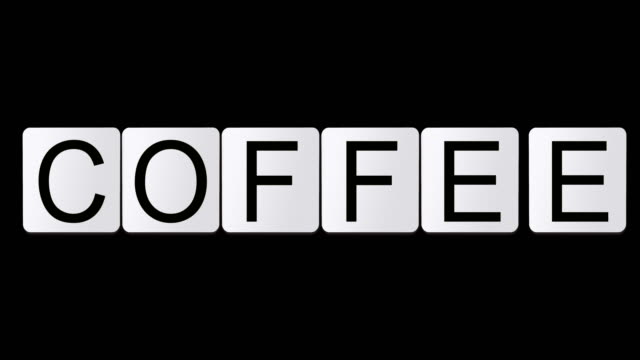 coffee - crossword stock videos and b-roll footage
