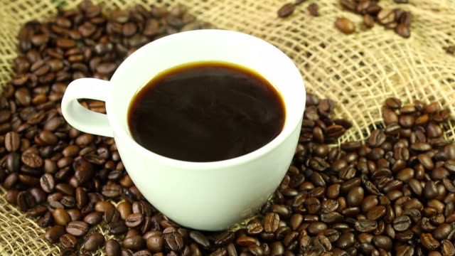 coffee with beans - frische stock videos & royalty-free footage