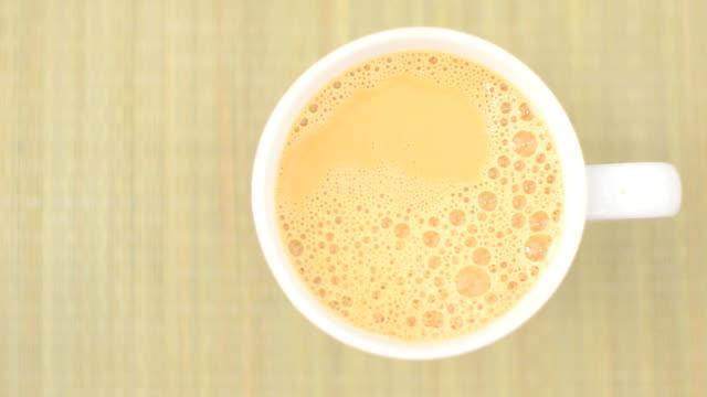 coffee with condensed milk - condensed milk stock videos & royalty-free footage
