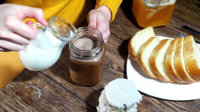 coffee with milk - milk jug stock videos & royalty-free footage