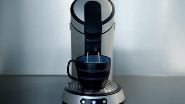 kaffeemaschine, kaffee - grau stock-videos und b-roll-filmmaterial