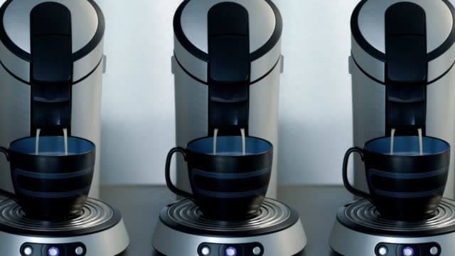 Coffeemakers making coffee