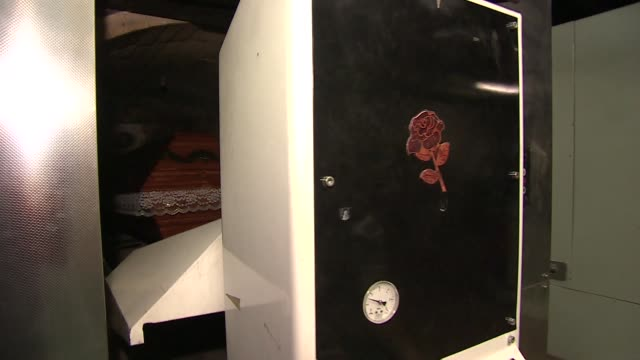 coffin in crematorium - coffin stock videos & royalty-free footage