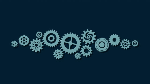 歯車機械 - 挽く点の映像素材/bロール