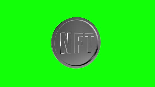 nft coin green screen loopable animation - cryptocurrency stock videos & royalty-free footage