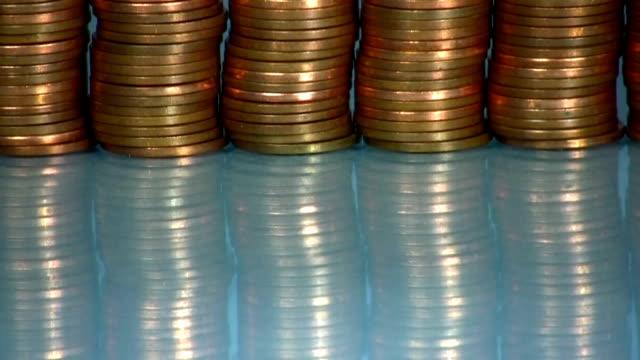 hd: moneta - moneta da 5 centesimi statunitensi video stock e b–roll