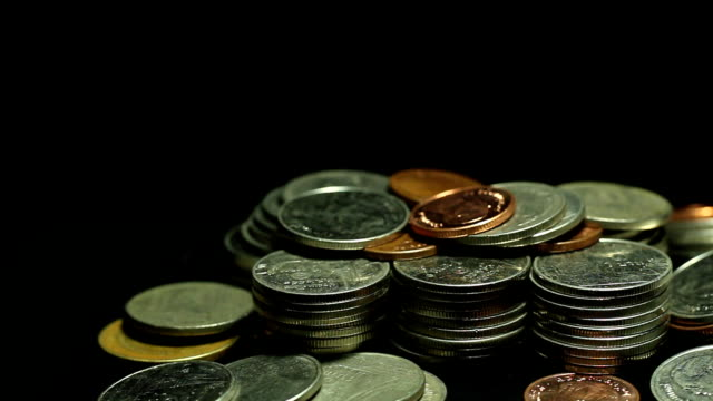 coin - moneta da 5 centesimi statunitensi video stock e b–roll