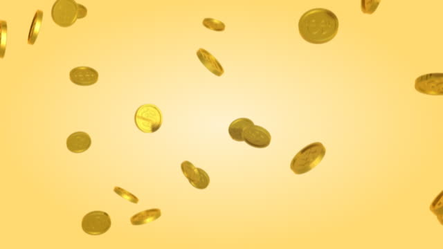 coins 01 fall looping background - coin stock videos and b-roll footage