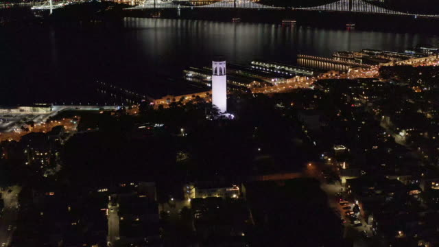 coit tower & downtown san francisco - coit tower stock videos & royalty-free footage