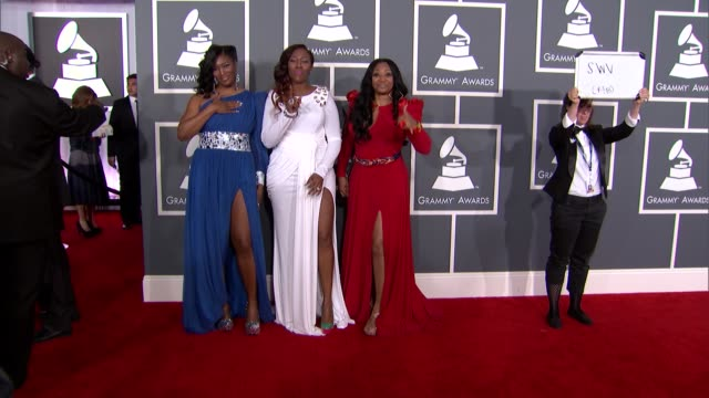 coko tamara johnsongeorge and leanne 'lelee' lyons at the 55th annual grammy awards arrivals in los angeles ca on 2/10/13 - grammy awards stock videos and b-roll footage
