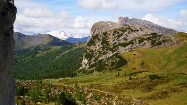 Col di Lana and Mount Marmolada from Valparola Pass