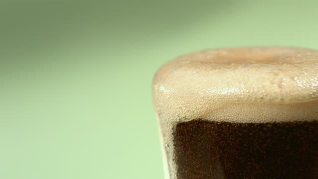 CU SLO MO Cola soda pop in glass / Seoul, South Korea