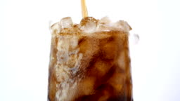 Cola soft drink with ice