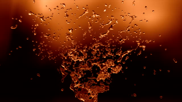 Cola splash in slow motion with alpha