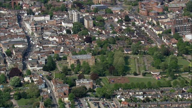 コルチェスター -航空写真イングランド、サフォーク、babergh 地区、イギリス - エセックス州点の映像素材/bロール