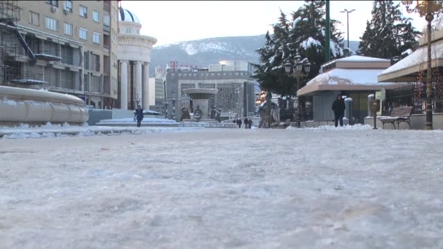Cold and snowy weather is effective in Skopje Macedonia and low air temperature causes icing on the roads on 30 December 2014 Snowy weather is also...