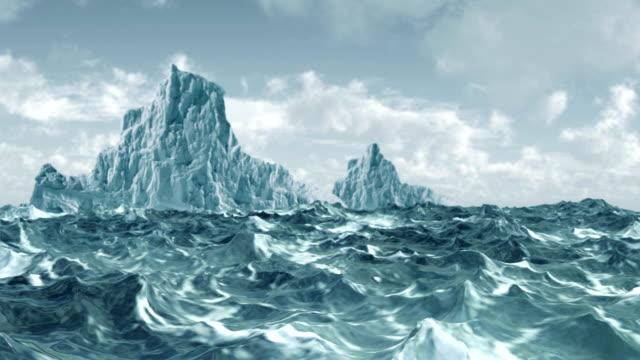 Frio artic Icebergue com vento Oceano