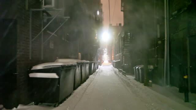 Cold Foggy Urban Alleyway