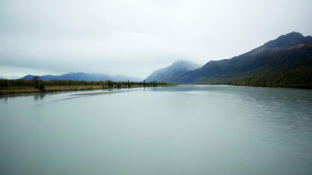 Cold river landscape