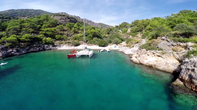 Cold water bay from Oludeniz - Aerial video