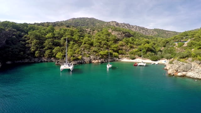 cold water bay from oludeniz - oludeniz stock videos and b-roll footage