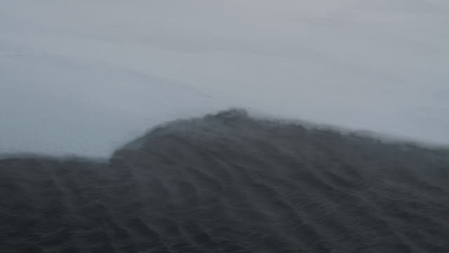 cu cold wind blowing over ice, antarctica - antarctica stock videos & royalty-free footage
