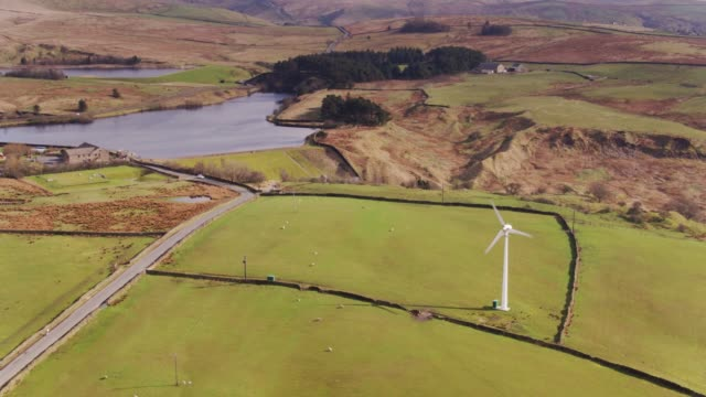 coldwell reservoirs, lancashire - drone shot - lancashire stock videos and b-roll footage