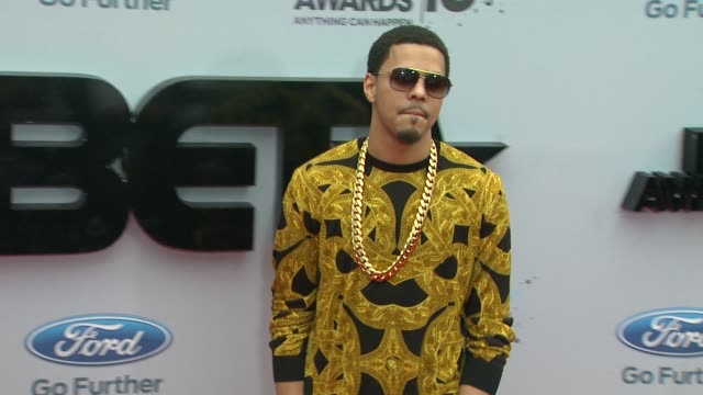 j cole at bet 2013 awards arrivals on 6/30/13 in los angeles ca - black entertainment television stock videos & royalty-free footage