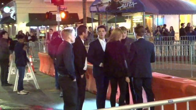 cole cott hart denton dylan sprouse outside the five feet apart premiere at fox bruin theatre in westwood in celebrity sightings in los angeles - bruin theater stock videos & royalty-free footage