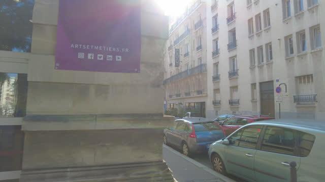 école nationale supérieure d'arts et métiers in paris - literature stock videos & royalty-free footage