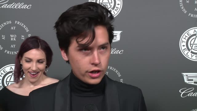 interview cole sprouse at the art of elysium's presents john legend's heaven at barker hangar on january 06 2018 in santa monica california - barker hangar stock videos & royalty-free footage