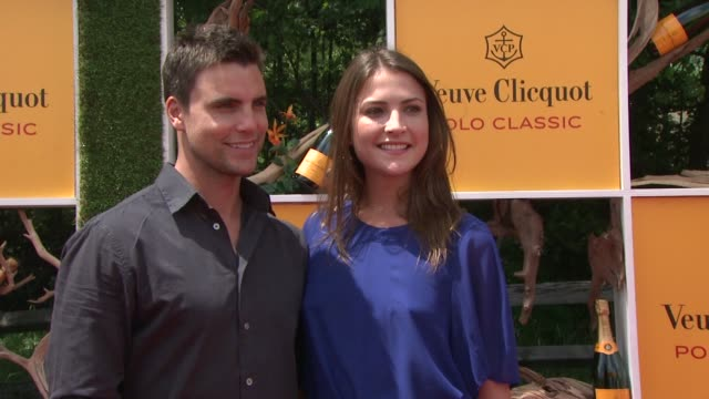 colin egglesfield aline nobie at the fifth annual veuve clicquot polo classic at liberty state park on june 02 2012 in jersey city new jersey - 動物を使うスポーツ点の映像素材/bロール