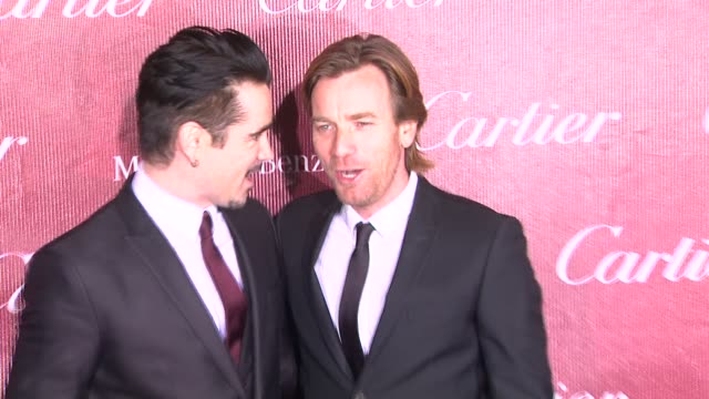 colin farrell and ewan mcgregor at the 25th annual palm springs international film festival awards gala presented by cartier in palm springs, ca on... - cartier stock videos & royalty-free footage