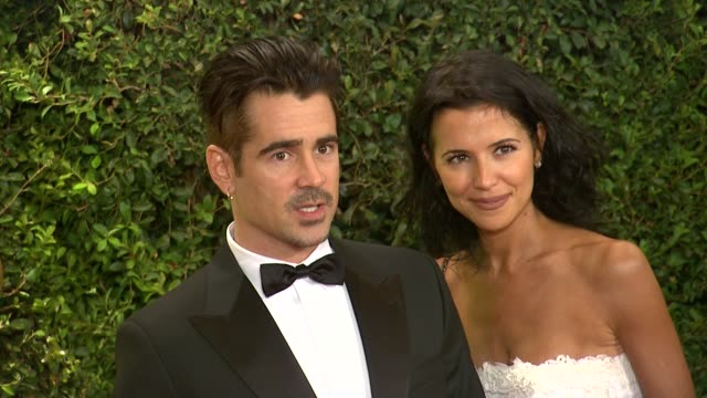 colin farrell at academy of motion picture arts and sciences' governors awards in hollywood ca on - academy of motion picture arts and sciences stock videos & royalty-free footage