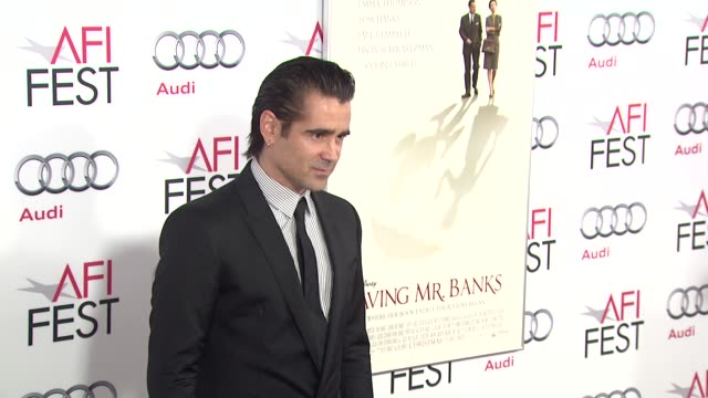 """colin farrell at afi fest 2013 opening night gala premiere of disney's """"saving mr. banks"""" in hollywood, ca, on . - colin farrell stock videos & royalty-free footage"""