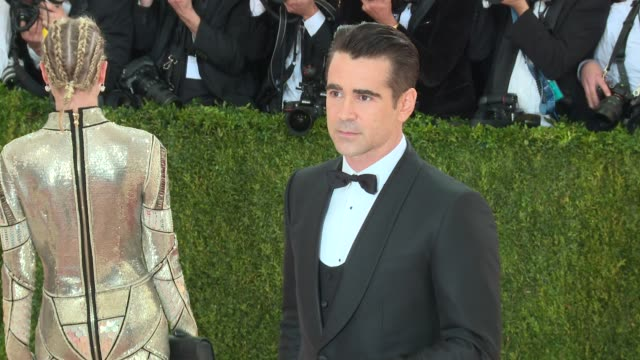colin farrell at manus x machina: fashion in an age of technology - costume institute benefit gala - arrivals at metropolitan museum of art at the... - colin farrell stock videos & royalty-free footage