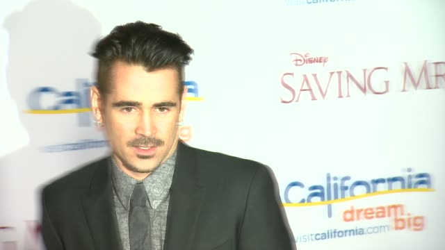 """colin farrell at """"saving mr. banks"""" los angeles premiere in burbank, ca, on 12/9/2013. - colin farrell stock videos & royalty-free footage"""
