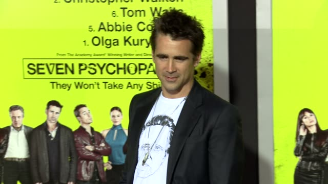 colin farrell at seven psychopaths los angeles premiere on 10/1/2012 in westwood, ca. - colin farrell stock videos & royalty-free footage