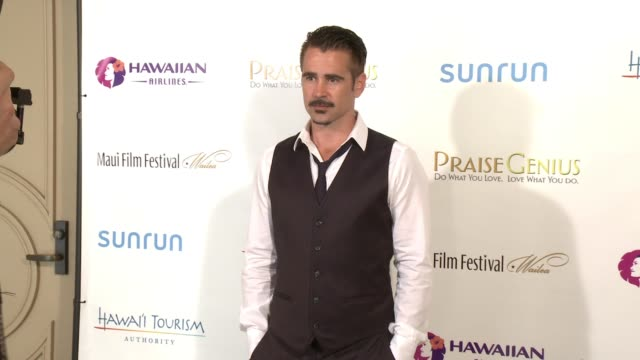 colin farrell at the 2015 maui film festival at wailea - day 2 on june 04, 2015 in wailea, hawaii. - colin farrell stock videos & royalty-free footage
