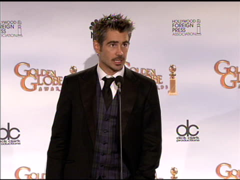 Colin Farrell at the 66th Annual Golden Globe Awards Press Room at Los Angeles CA
