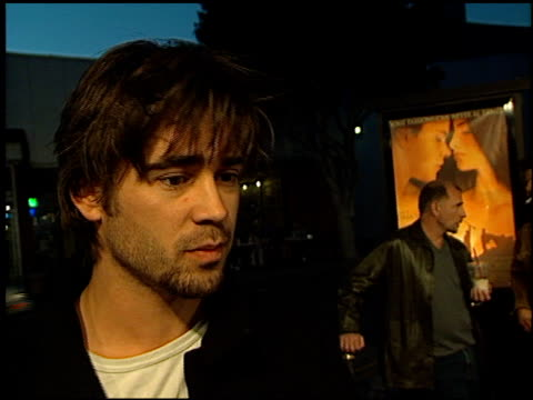 colin farrell at the 'all the pretty horses' premiere at the bruin theatre in westwood, california on december 17, 2000. - colin farrell stock videos & royalty-free footage